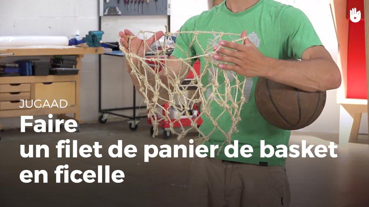 fabriquer un filet de panier de basket en ficelle jugaad. Black Bedroom Furniture Sets. Home Design Ideas