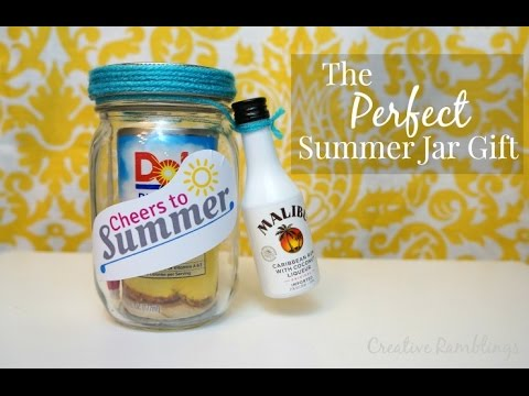 Summer Cocktail Gift In A Jar