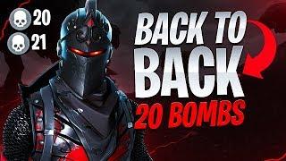 BACK TO BACK 20 BOMBS! - Fortnite Battle Royale