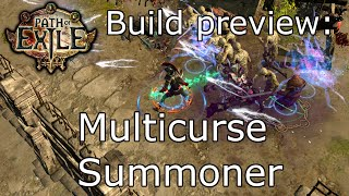 [Path of Exile] Build preview: Multi-curse minion summoner.