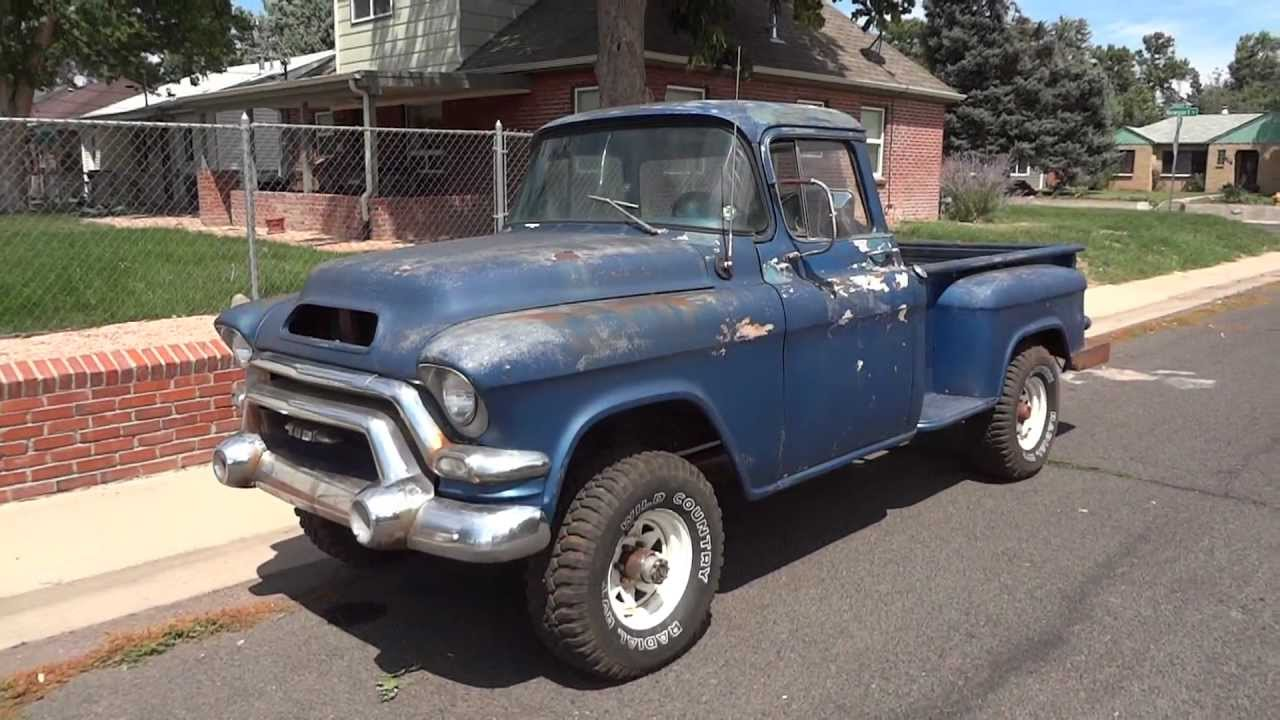 Truck 1955 chevy apache truck for sale : SUPER RARE 1956 GMC 1/2 Ton Big Back Window Factory V8 NAPCO Truck ...