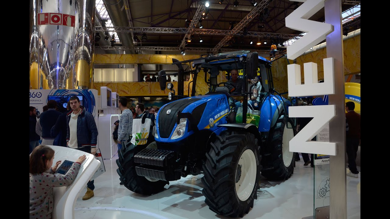 New Holland T5 100 >> FIMA 2016. New Holland T5 - YouTube