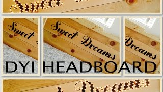 Dyi: Sweet Dreams Wood Marquee Lights Headboard