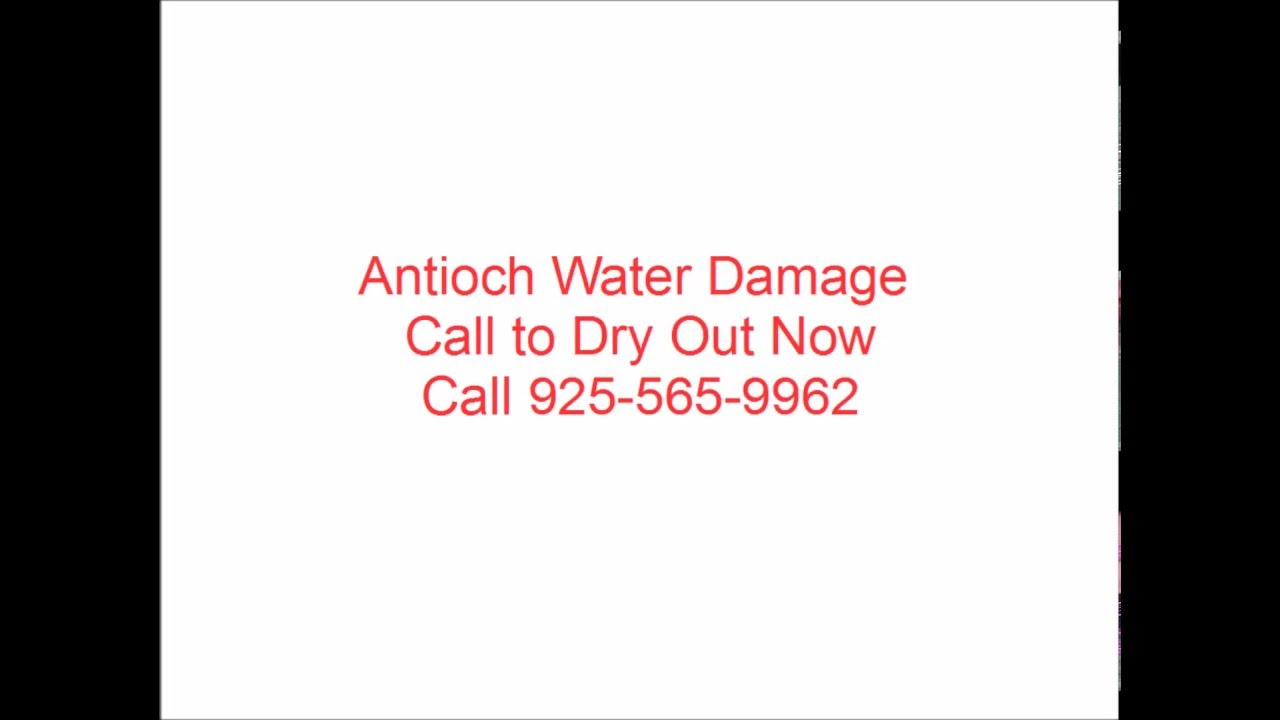 Antioch Water Damage - Antioch Fire Damage - Antioch Mold Damage Repair Contractor