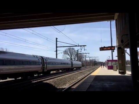 Amtrak Trains through T.F. Green Station in Warwick Rhode Island