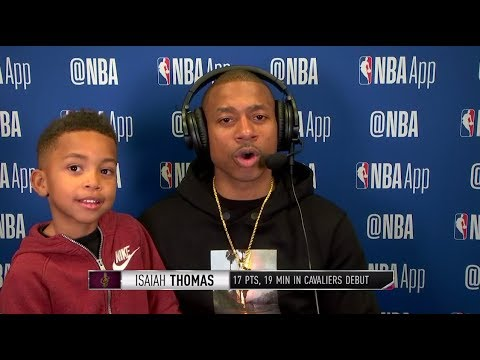 Isaiah Thomas, With His Son Jaiden, Talks About His Return Following Cavaliers Win