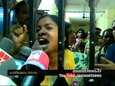 Conflicts in protest march towards DySP office against Jisha's murder