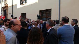 Pedro Sánchez llega al acto de precampaña en Palma