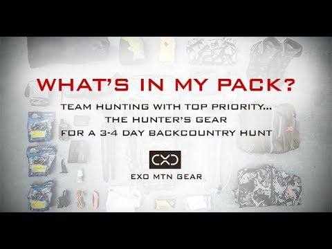 Team Hunting Gear for a 3-4 Day Backcountry Hunt | Exo