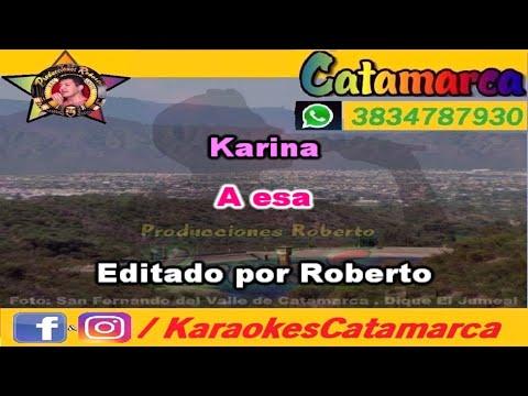 Karina   A esa ( karaoke ) (PRODUCCIONES ROBERTO)