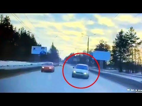 Момент смертельного ДТП в Тольятти
