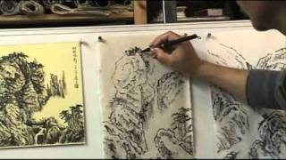 What is Ax or Axe Cut Strokes and How to do it in Chinese Landscape Painting (2/3)