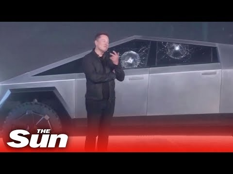 Elon Musk's epic Cybertruck 'bulletproof' window smash fail