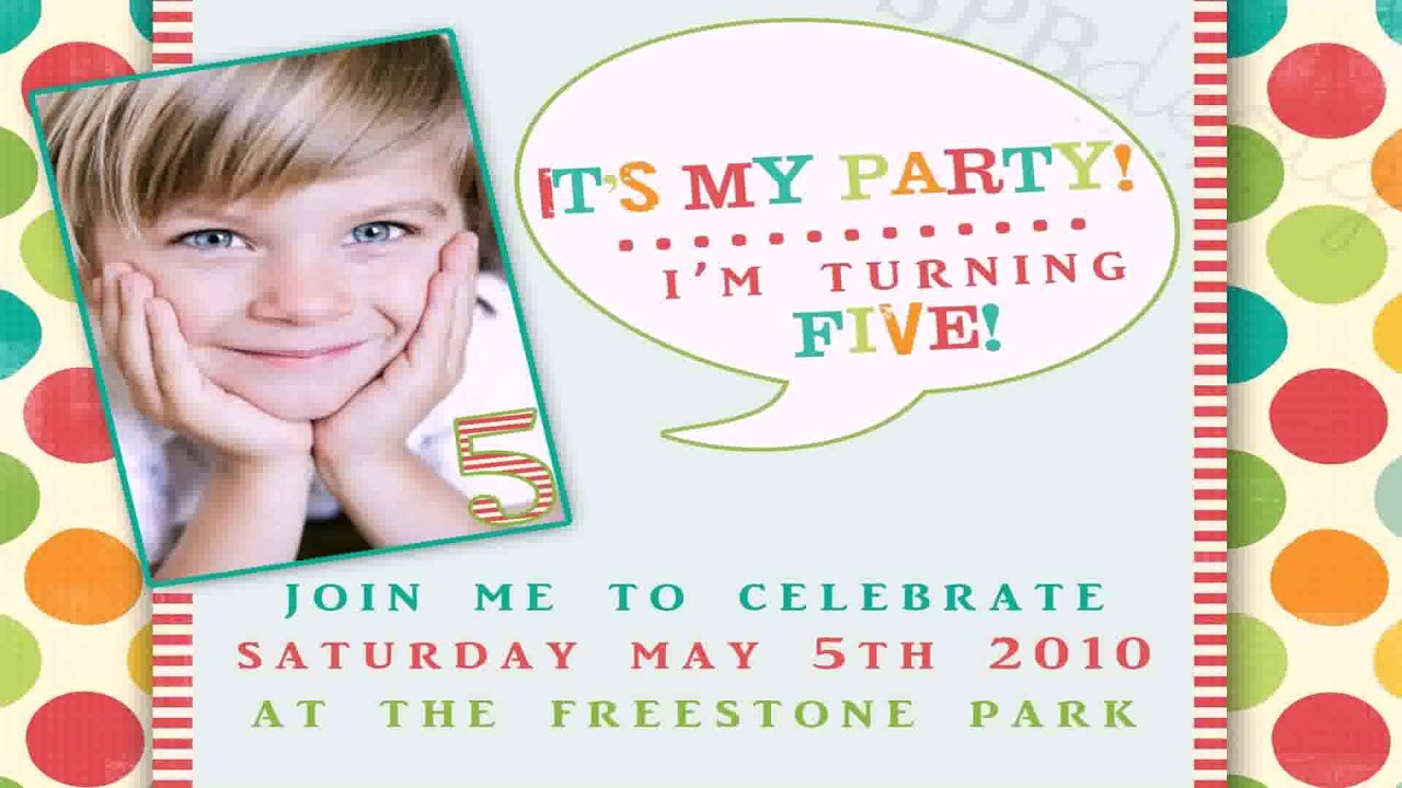 Birthday Party Invitations For 3 Year Old Boy