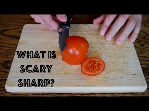 WHAT IS SCARY SHARP?? How sharp can you get a knife freehand sharpening?...Pretty sharp!