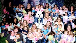 18 Sets of Toddler Twins Double the Fun as They Pose With Easter Bunny