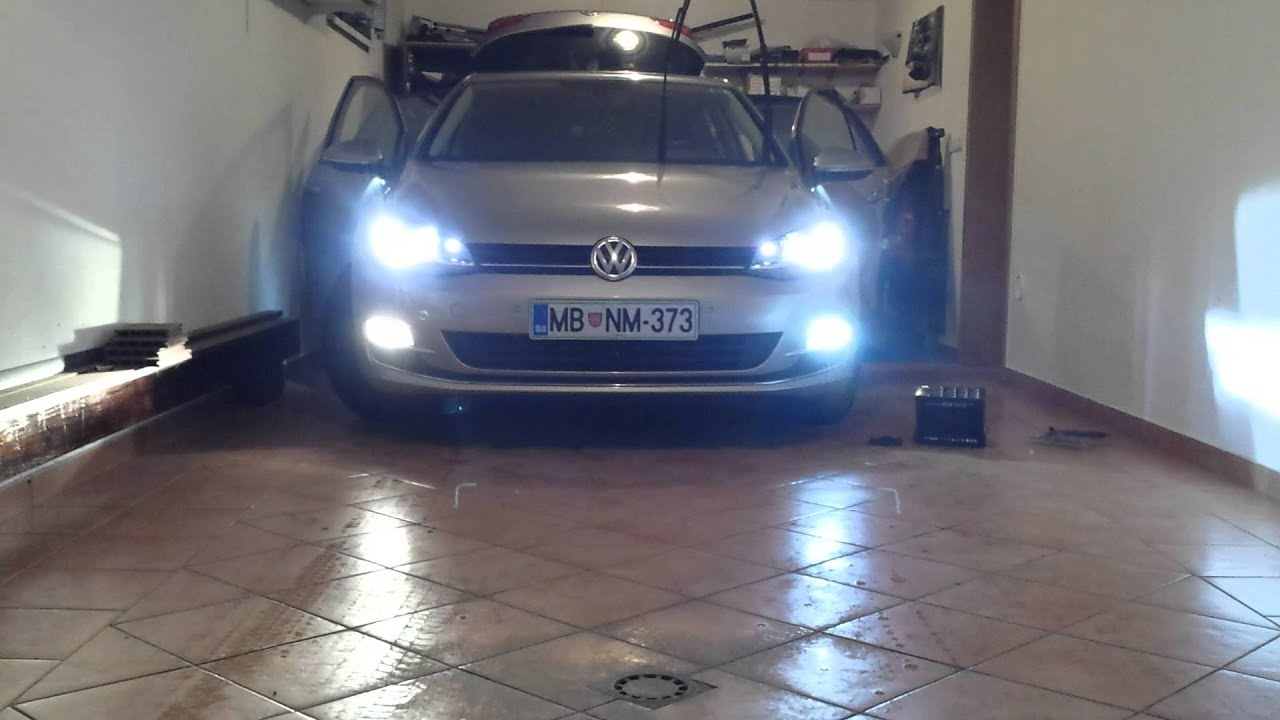 maxresdefault vw golf mk7 led fog light youtube Fog Light Wiring Diagram at fashall.co