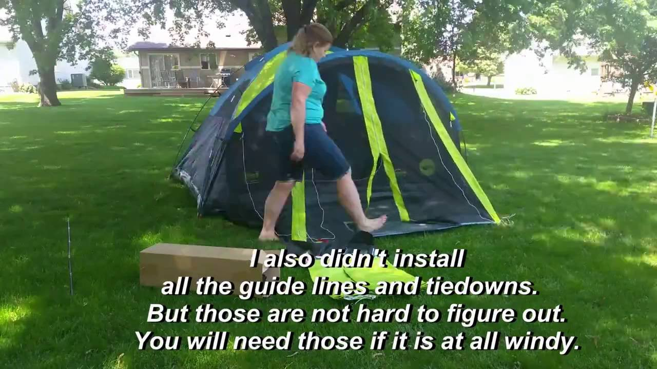 Coleman Carlsbad 4-Person Dome Dark Room Tent with Screen Room - YouTube  sc 1 st  YouTube & Coleman Carlsbad 4-Person Dome Dark Room Tent with Screen Room ...