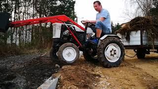 traktor sam z turem, tuz i wywrotką czyli Sam z hydrauliką