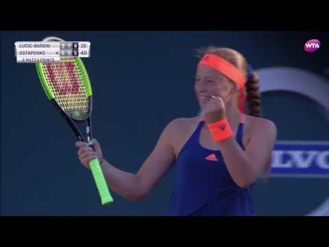 2017 Volvo Car Open Semifinal   Jelena Ostapenko vs Mirjana Lucic-Baroni   WTA Highlights