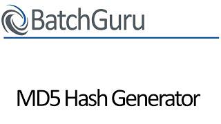 101 - MD5 Hash Generator