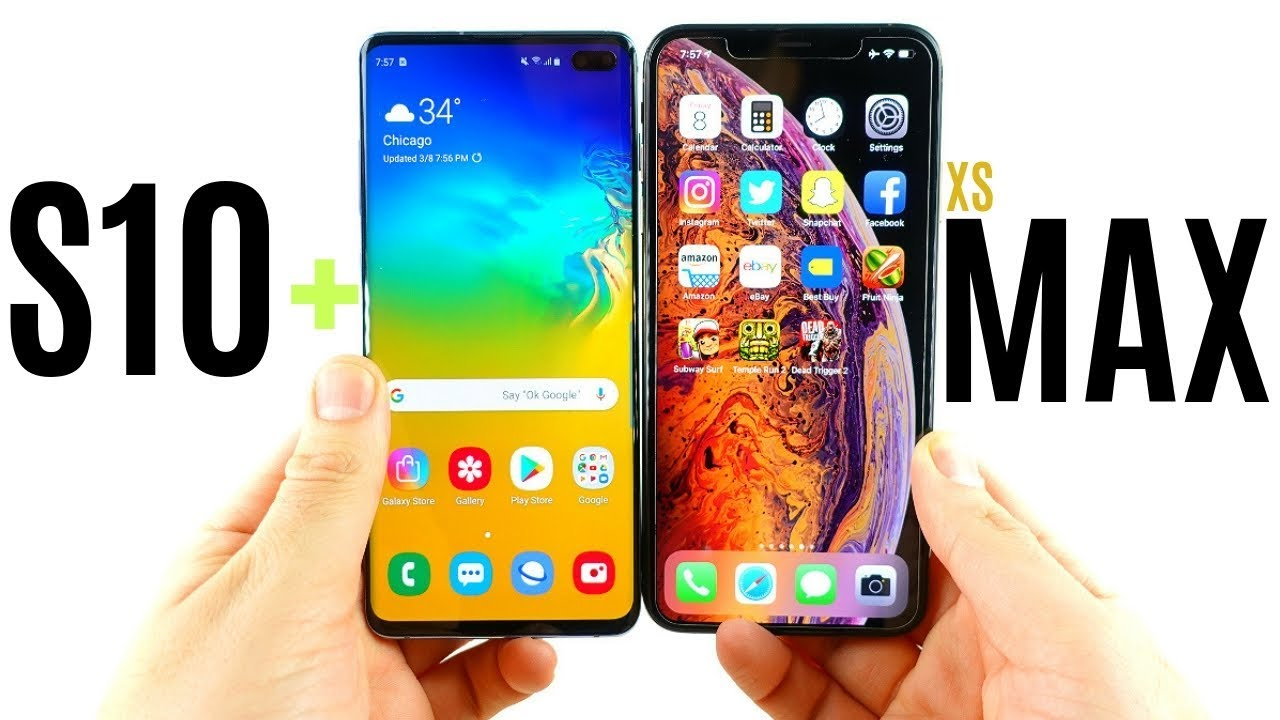 Iphone 10 xr vs samsung s10 plus