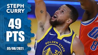 Steph Curry SCORES 49 PTS as Warriors blow out Thunder