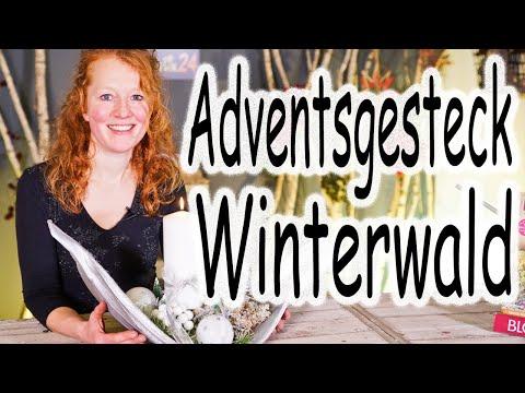DIY: Weihnachtsdeko | Tischdeko | Adventsdeko | Adventsgesteck Winterwald | Floristik24