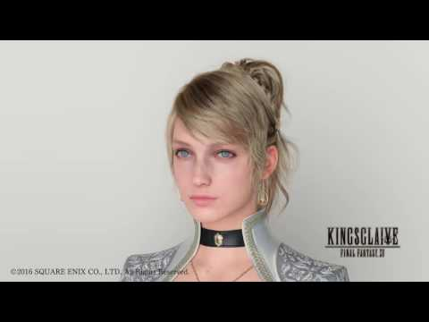 The hair of Luna from Kingsglaive Final Fantasy XV