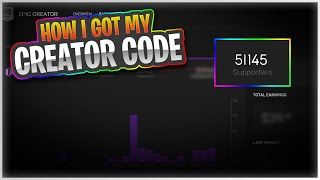 HOW I GOT A CREATOR CODE IN FORTNITE [2019] [WORKING - MARCH]
