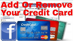 How to Add or Remove Credit Card from Facebook