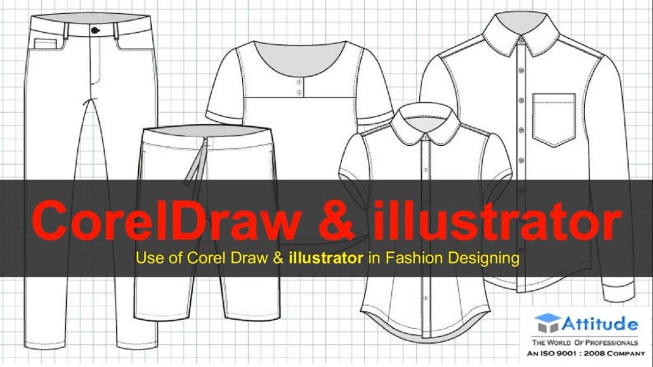 Use Of Coreldraw Illustrator In Fashion Dress Designing Coreldraw Help In Fashion Designing Youtube