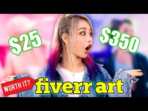 I Paid Professional Fiverr Artists To Draw Me! Cheap Vs Expensive Challenge