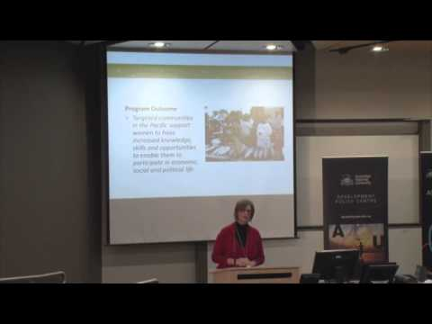 Australia's Pacific gender initiative: Susan Ferguson
