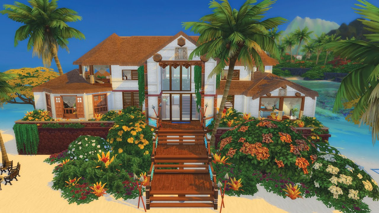 Mes Constructions Preferees Dans La Galerie Special Iles Paradisiaques Sims 4 Youtube