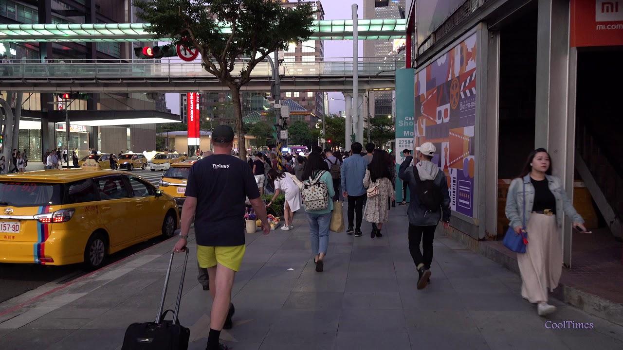Прогулка по Тайбэю, столица Тайваня 4K