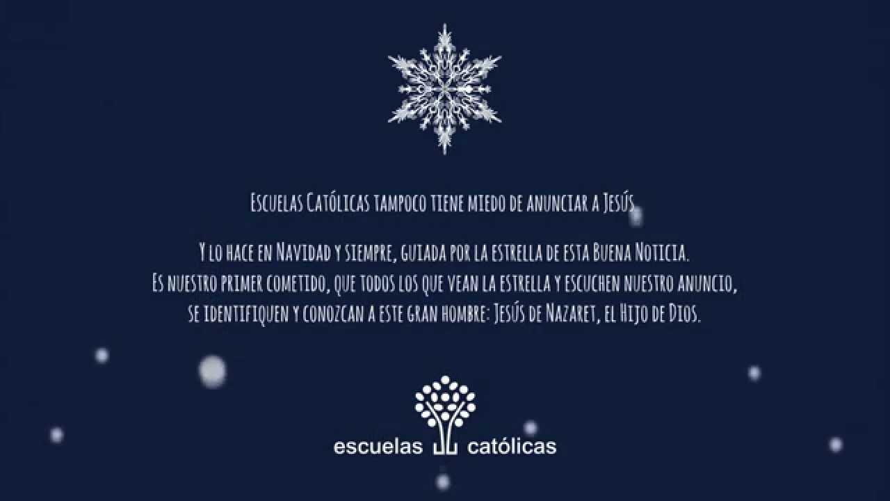 Felicitaci n de navidad de escuelas cat licas youtube - Sobre de navidad para imprimir ...