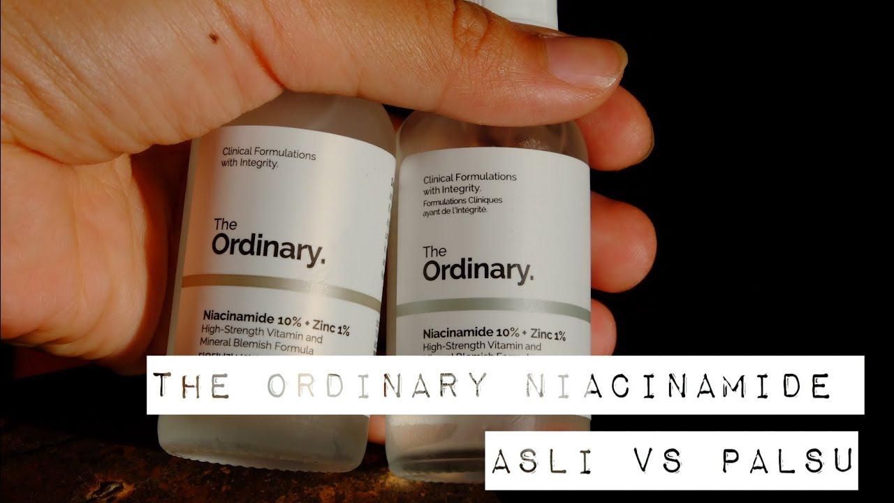 The Ordinary Niacinamide Asli Vs Palsu Youtube