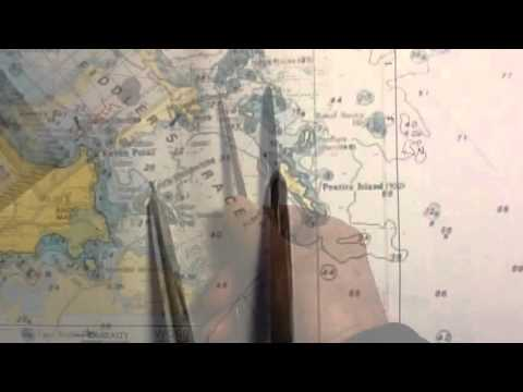 Measuring miles on a nautical chart