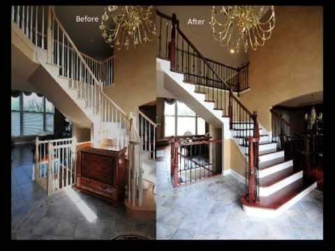 iron baluster upgrade remodel wood balusters replaced with wrought iron