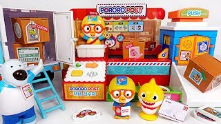 Knock! Knock! I'm Happy delivery man Pororo~ Moving Delivery and Truck toys - PinkyPopTOY