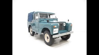A Versatile Land Rover Series 2 SWB 88-inch Presented in Show Winning Condition - SOLD!
