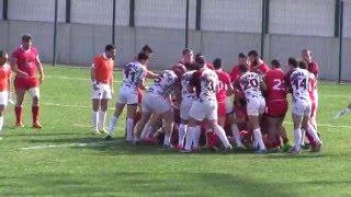 ჩხუბი საქართველოს რაგბის ჩემპიონატში/Драка в чемпионате Грузии по Регби/ Rugby fight Georgian league