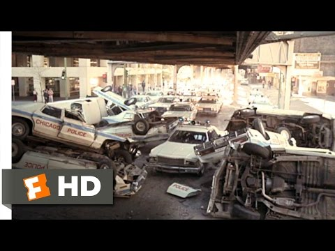 The Blues Brothers (1980) - Chased by the Cops Scene (7/9) | Movieclips