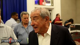 Bob Arum refuses to speak to media!