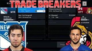 Trade Breakers: NHL 16 Trade Simulation. Brassard for Zibanejad