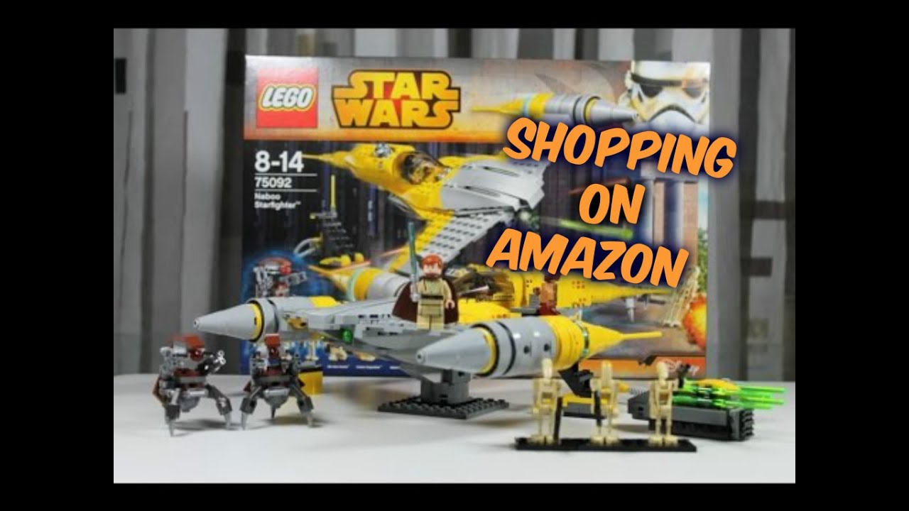 Shopping on Amazon-LEGO Star Wars Naboo Starfighter - YouTube