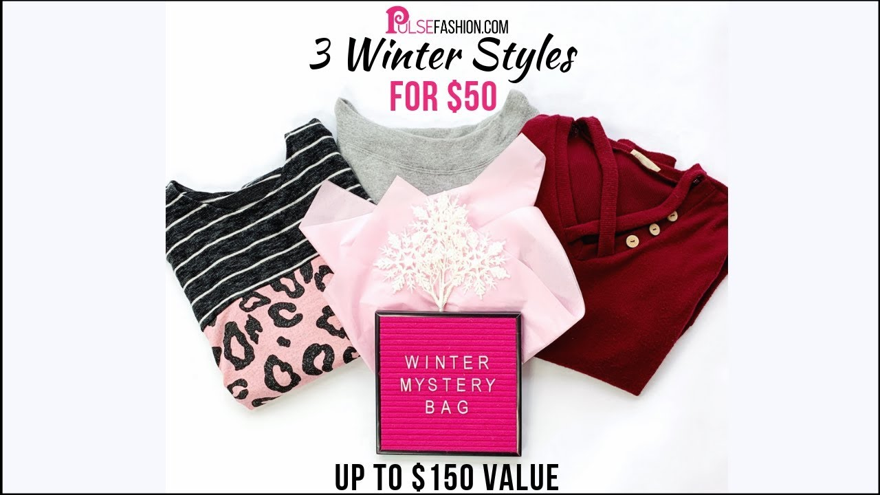 536638134e 3 ITEMS FOR $50! Winter Mystery Grab Bag! By PulseFashion.com. Pulse Fashion  - Women's Online Boutique