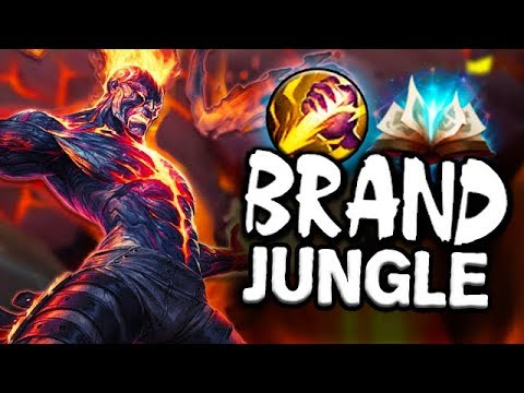 ANYONE CAN JUNGLE WITH THIS RUNE! OP EARLY GAME BRAND JUNGLE STOMP  - Season 8 Gameplay