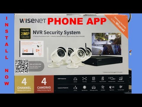 WiseNet NVR Security System Step by Step Instructions